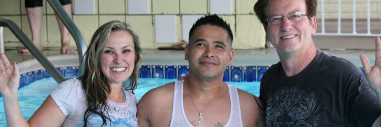 Jimmy's Baptism at MotelChurch
