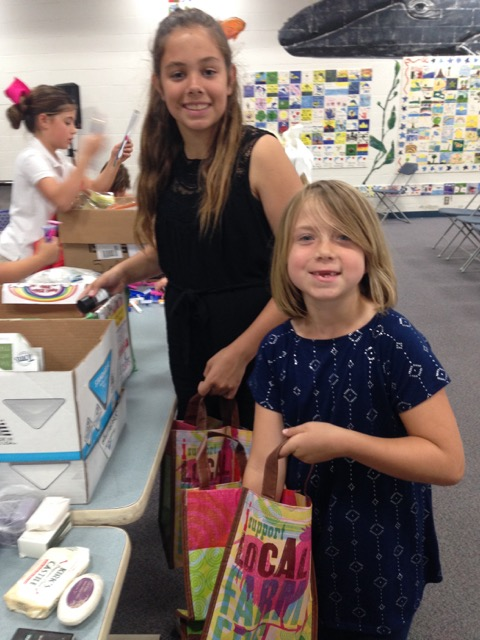 Girl Scouts Organize Items
